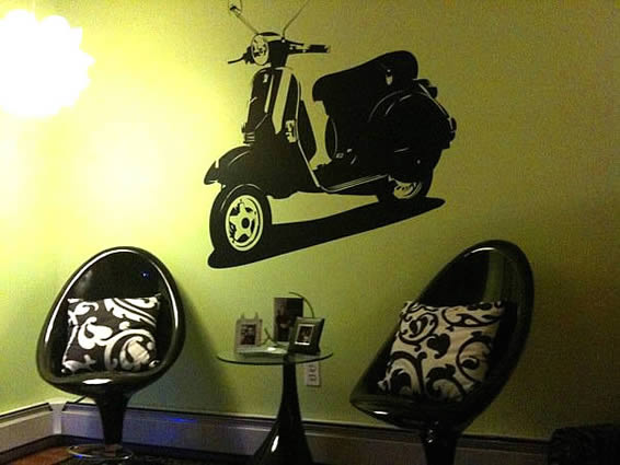 Modern Scooter Wall Decal
